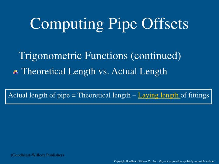 Computing Pipe Offsets
