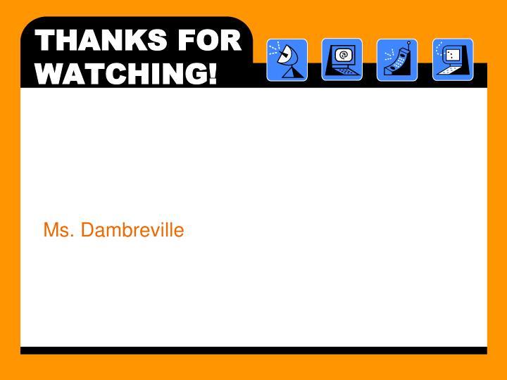 Ms. Dambreville