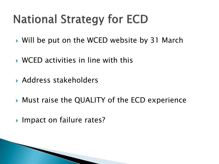 National Strategy for ECD