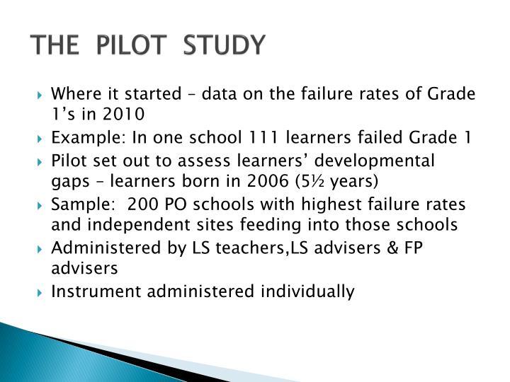 THE  PILOT  STUDY