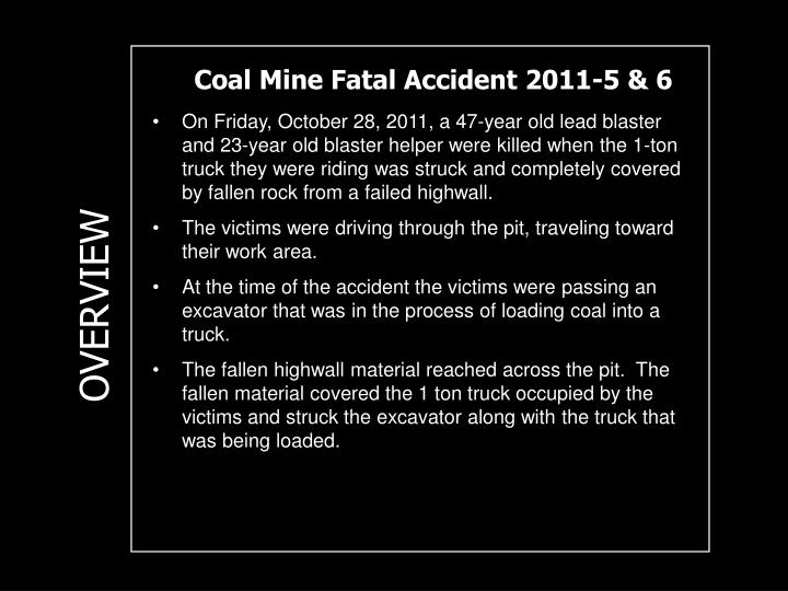 Coal Mine Fatal Accident