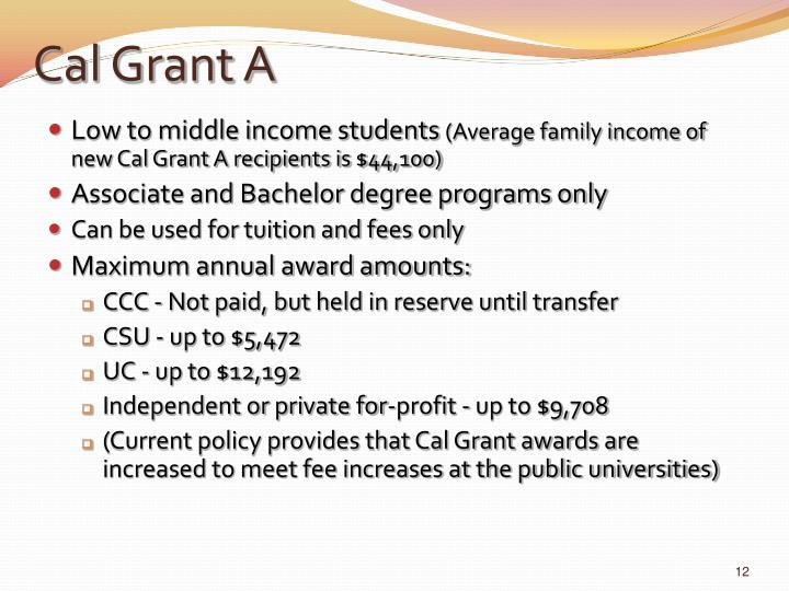 Cal Grant A