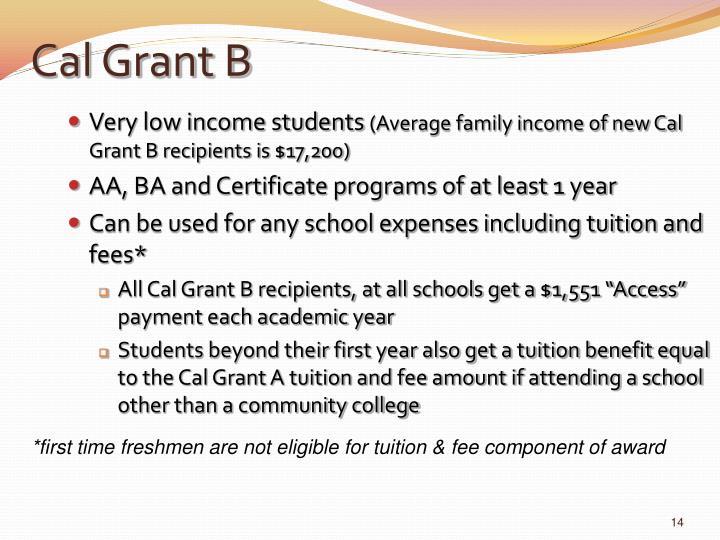 Cal Grant B