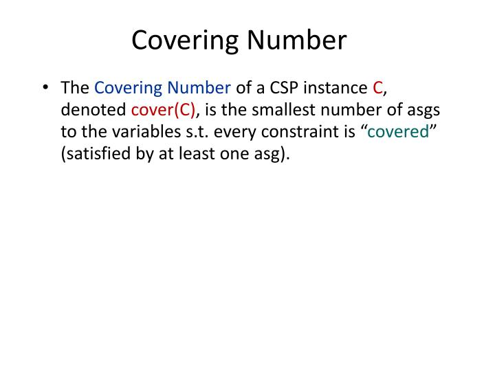 Covering Number