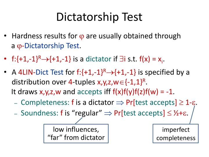 Dictatorship Test
