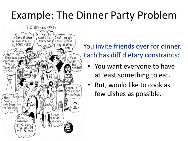 Example: The Dinner Party Problem