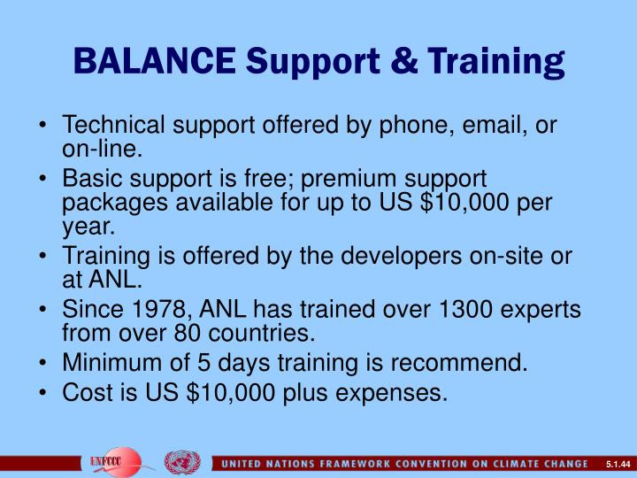 BALANCE Support & Training