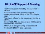balance support training