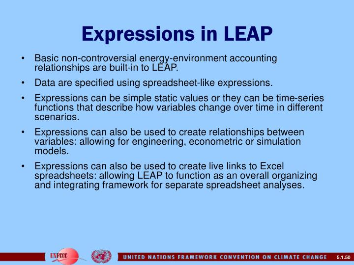 Expressions in LEAP