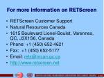 for more information on retscreen