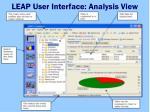 leap user interface analysis view