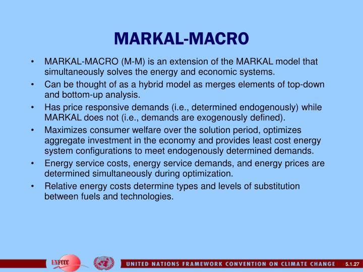 MARKAL-MACRO