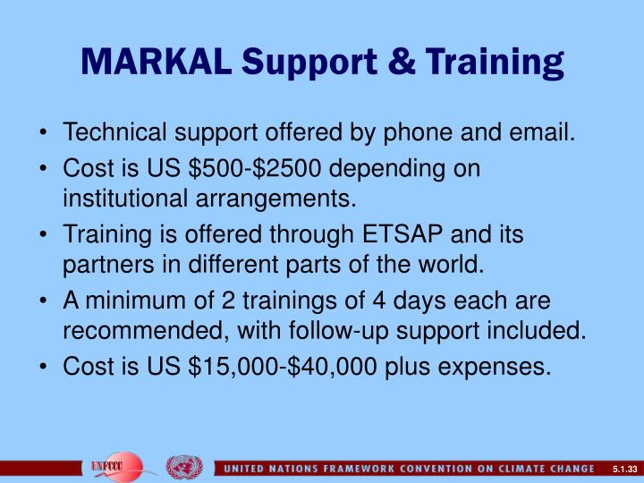MARKAL Support & Training
