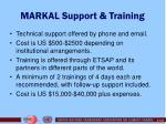 markal support training