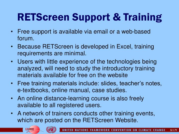 RETScreen Support & Training