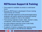 retscreen support training