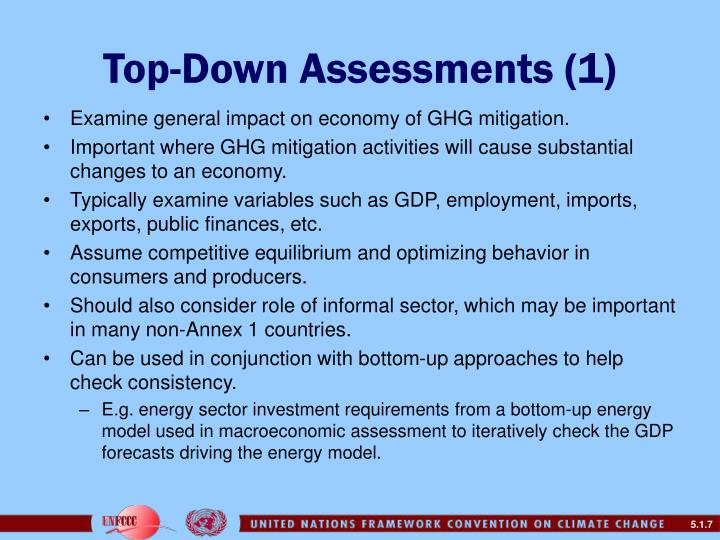 Top-Down Assessments (1)