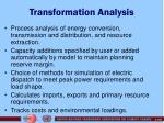 transformation analysis