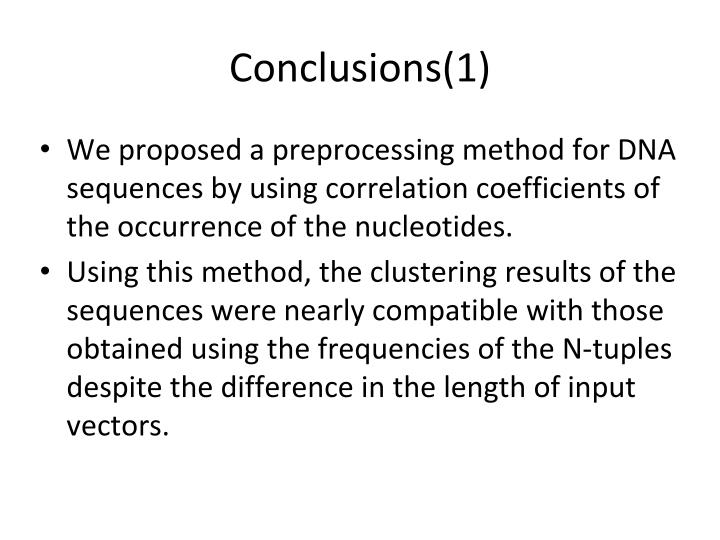 Conclusions(1)