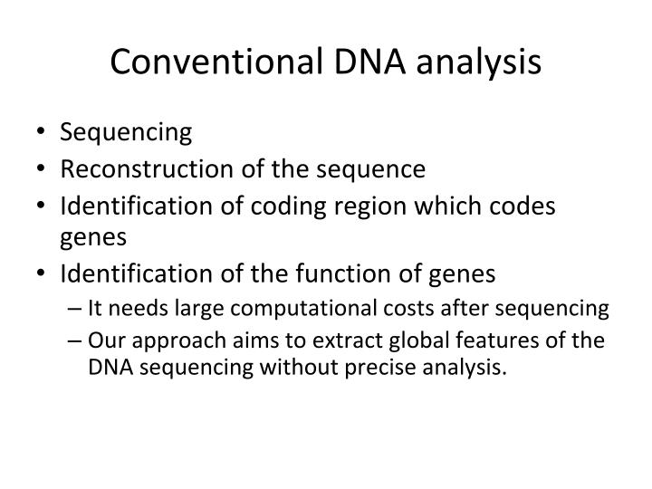 Conventional DNA analysis