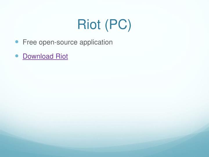 Riot (PC)