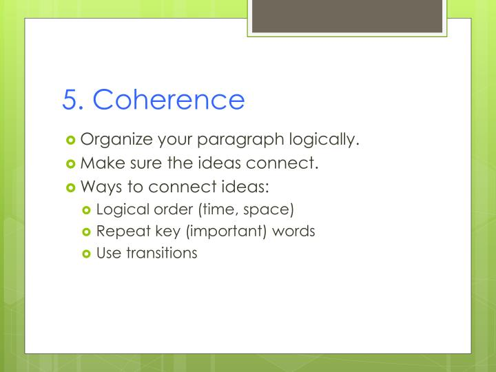 5. Coherence