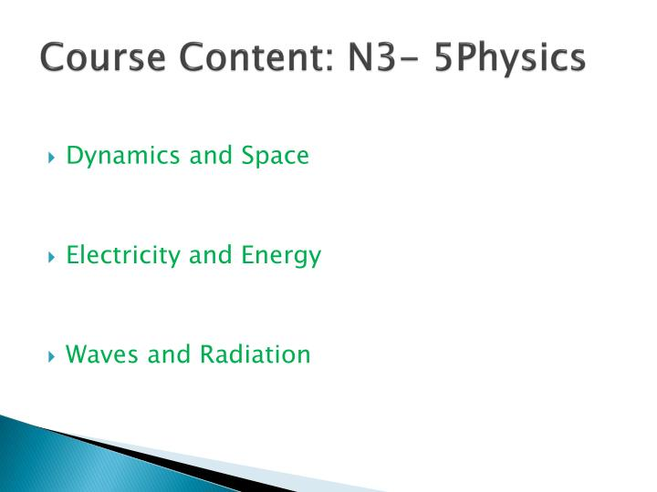 Course content n3 5physics