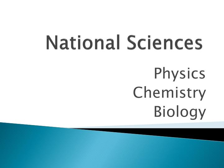 National sciences