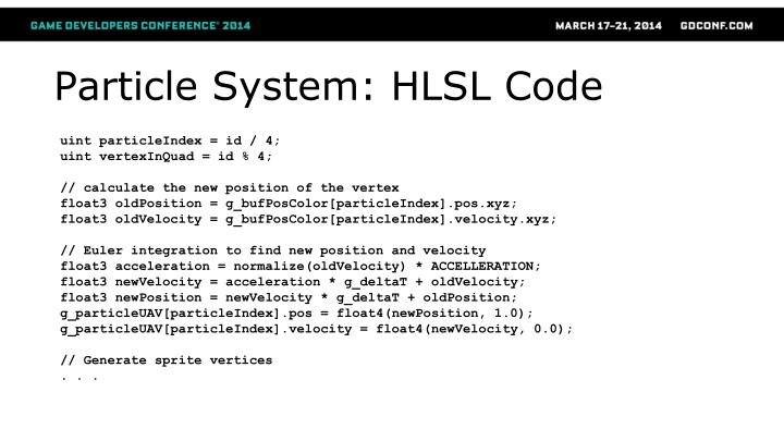 Particle System: HLSL Code