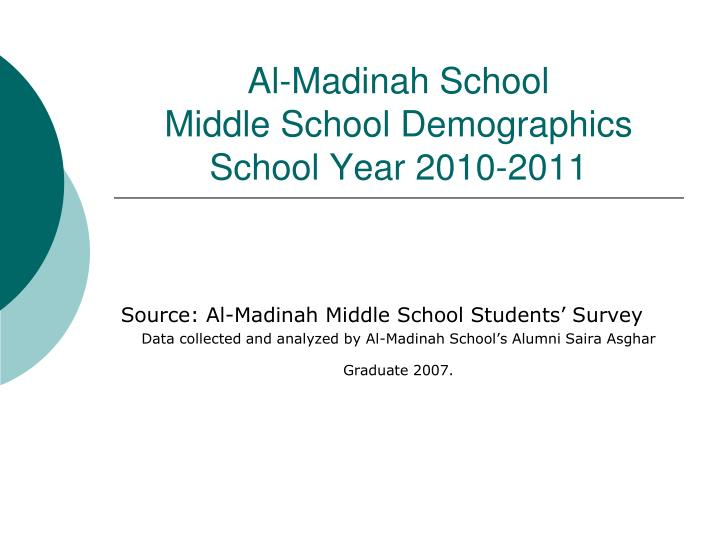 Al madinah school middle school demographics school year 2010 2011