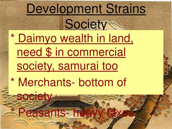Development Strains Society