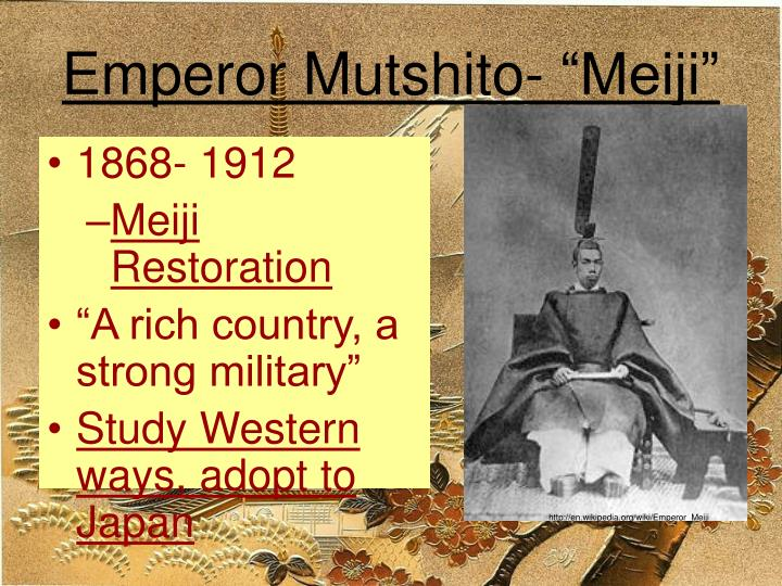 """Emperor Mutshito- """"Meiji"""""""