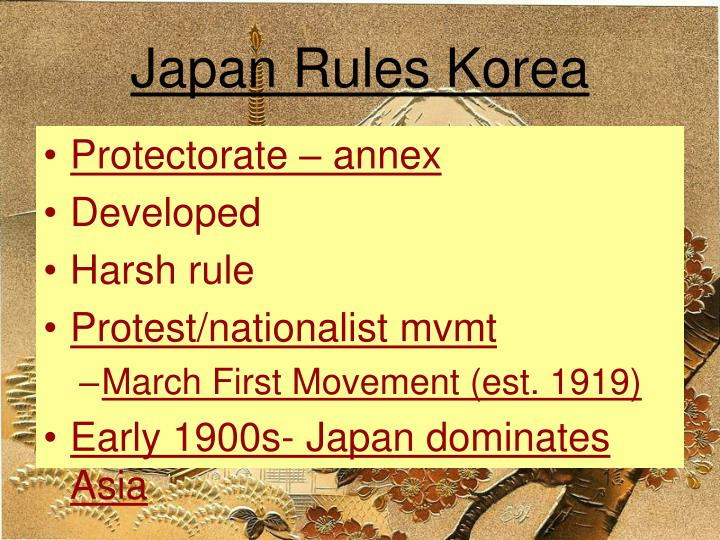 Japan Rules Korea