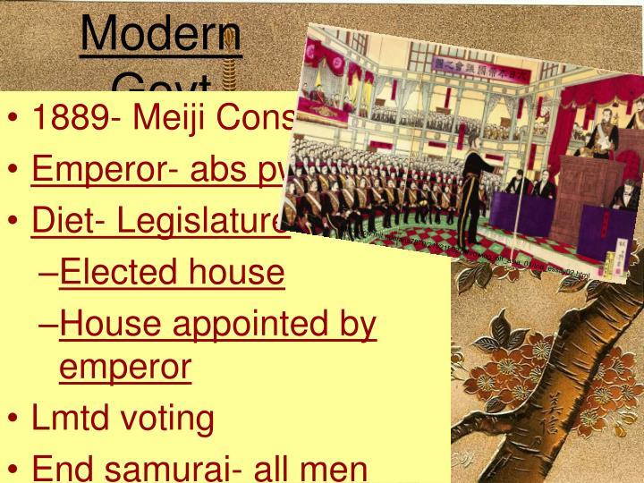 Modern Govt