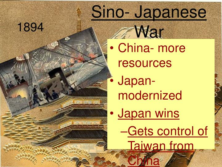Sino- Japanese War