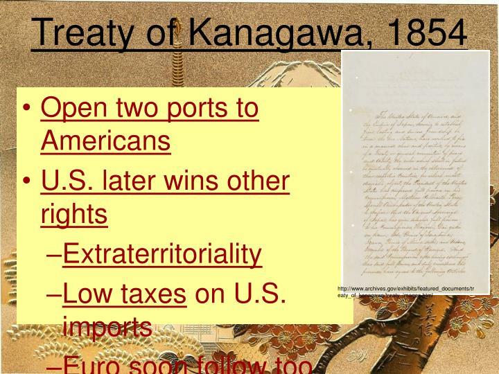 Treaty of Kanagawa, 1854