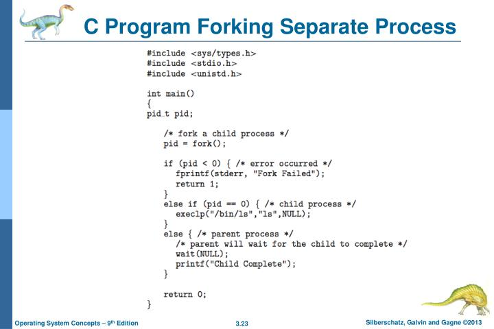 C Program Forking Separate Process