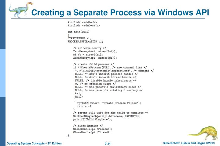Creating a Separate Process via Windows API