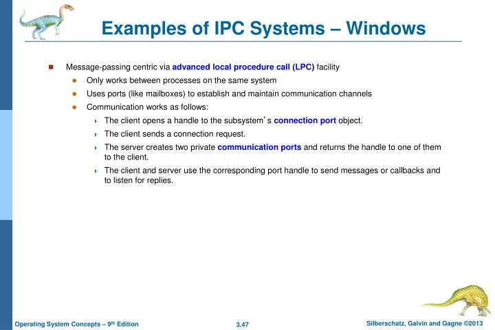 Examples of IPC Systems – Windows
