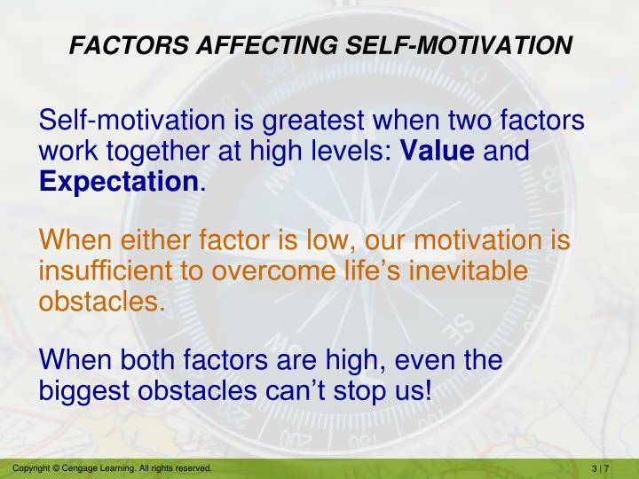 FACTORS AFFECTING SELF-MOTIVATION