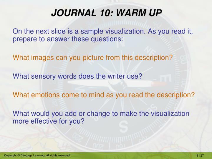 JOURNAL 10: WARM UP