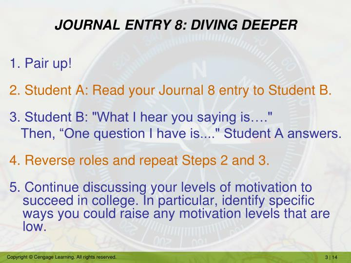 JOURNAL ENTRY 8: DIVING DEEPER
