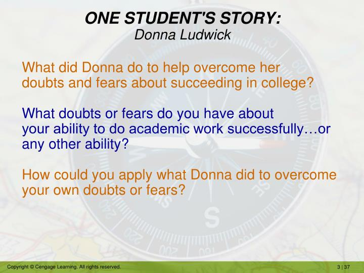 ONE STUDENT'S STORY: