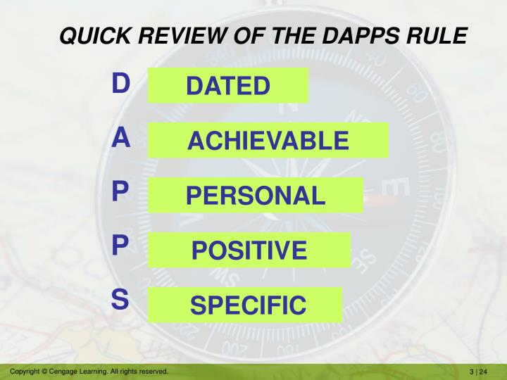 QUICK REVIEW OF THE DAPPS RULE
