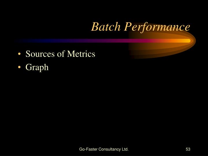 Batch Performance