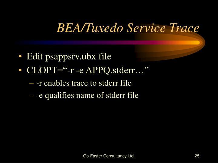 BEA/Tuxedo Service Trace