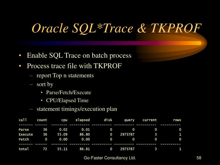 Oracle SQL*Trace & TKPROF