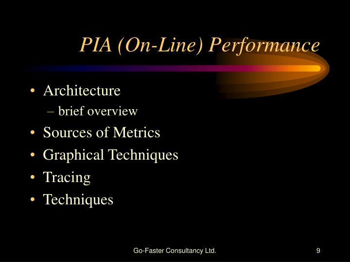 PIA (On-Line) Performance
