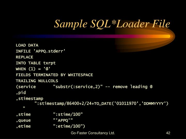 Sample SQL*Loader File