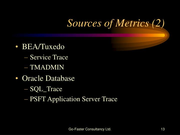 Sources of Metrics (2)